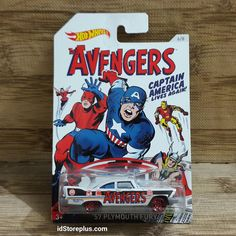 HOT WHEELS 57 PLYMOUTH FURY THE AVENGERS CAPTAIN AMERICA LIVES AGAIN!