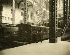 Pennsylvania Station was an historic railroad station, named for the Pennsylvania Railroad. 1910-1963 It was considered a masterpiece of the Beaux-Arts style and one of the architectural jewels of New York City.