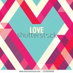 Valentines day card/ Abstract web design/vector/wallpaper background/ love/ Heart - stock vector