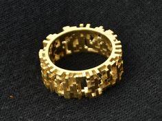 ring clode03 brass. 3d printed wax, brass casting. www.studioluminaire.com