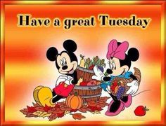 Have a great Tuesday quotes quote disney mickey mouse minnie mouse days of the week tuesday tuesday quotes happy tuesday tuesday quote Tuesday Quotes Good Morning, Happy Day Quotes, Happy Tuesday Quotes, Good Morning Good Night, Morning Quotes, Sunday Quotes, Tuesday Humor, Weekday Quotes, Night Quotes