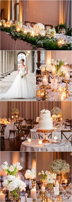 Featured Photographer: Amanda Megan Miller Photography; elegant wedding reception details