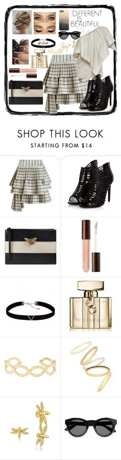 """""""Beautiful Asymmetrical Skirt Set!"""" by snowflakeunique ❤ liked on Polyvore featuring Zimmermann, Gucci, Astrid & Miyu, Accessorize, Madewell, Bernard Delettrez and Givenchy"""
