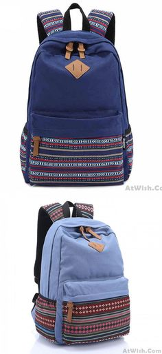 New Folk Striped College Canvas Backpack for big sale!  backpack  school   college 16c65f3b8a