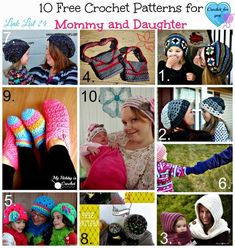 Mommy and Daughter Free Crochet patterns