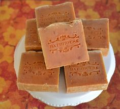 Sweet Potato is our most popular winter soap. Warm cinnamon, vanilla, nutmeg and clove swirled with creamy vanilla, sugar and shea butter. Spicy, warm and ultra comforting. This soap is all youll ever need to feel amazingly soft and enraptured in bliss.