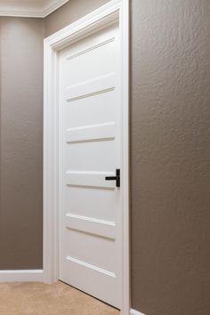 Five Victorian Shaker Panel Doors Primed Victorian