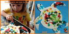 Australia – Dot art paper plate turtle