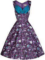 Lindy Bop 'Ophelia' Vintage 50's Woodland Print Party Dress