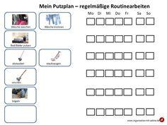 Putzplan Routinearbeiten - Einfache Organisation & Rezepte Lifehacks, Routine, Stress, Floor Plans, Diagram, Blog, Google, Home, Organization