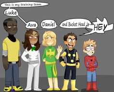 The Little Hero AU<<omg iron fist looks so cute >>>>> why is Spider-Man blond????