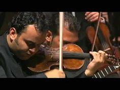 """Gustavo Dudamel conducts.  Spectacular violin intro.  """"Fuga con Pajarillo""""."""