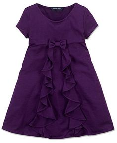 Great sewing inspiration! Ralph Lauren Girls Dress, Little Girls Cascade Ruffle Dress - Kids - Macy's