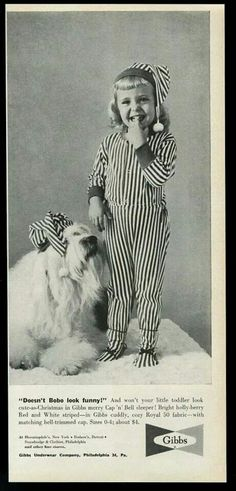 Old English Sheepdog in a vintage ad