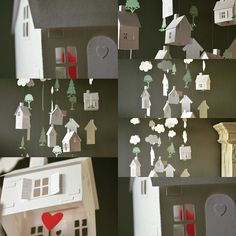 Little houses mobile, such a sweet nursery mobile!