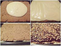 Prăjitura cu foi fragede cu nucă și cremă de lămâie - Rețete Merișor Caramel, Dairy, Pudding, Sweets, Cheese, Cookies, Cake, Desserts, Food