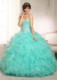 Quinceanera Dresses – Vizcaya Gown Dress Style 88094 Quince Dresses, Quinceanera Dresses, Ball Gowns, Aqua, 15 Anos Dresses, Backless Homecoming Dresses, Prom Party Dresses, Ball Dresses, Dance Outfits