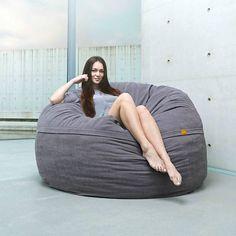 Beanbag Neo single gray polyester ø110x70cm 600liter