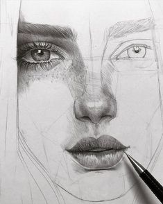 Pencil drawing tutorials, beautiful drawings, amazing art, drawing people f Realistic Pencil Drawings, Amazing Drawings, Beautiful Drawings, Realistic Sketch, Realistic Hair Drawing, Drawing Techniques Pencil, Drawing Process, Amazing Artwork, Beautiful Pictures