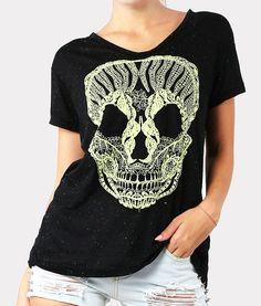 Lace Skull T-Shirt