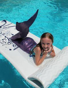 Mermaid Tail @Christina & DeWitt Hubbard Chocolat Home. My cute cousin!!! :)