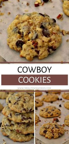 The best ever Cowboy Cookies that are slightly crispy on the outside and soft with just a touch of chewy on the inside! These sweet treats are quick to come together and packed full of tasty goodies. They are perfect as desserts or snacks for your holiday parties or Christmas cookie exchange!