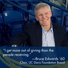 Bruce Edwards '60 has delivered a huge win for UC Davis students, both on and off the field.