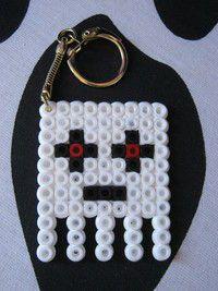 Minecraft Ghast Key Ring Hama Beads by Super Madc