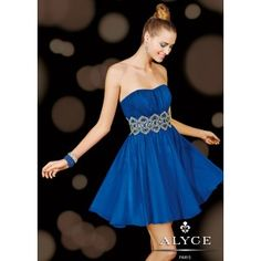 Alyce 3610 Pleated Cocktail Dress