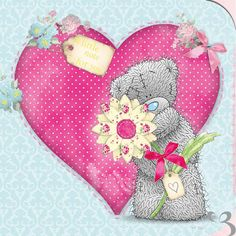 Tatty Teddy with Pink Heart Birthday Me to You Bear Card : Me to You Bear Store, the entire Me to You Bear Collection including Plush, Figurines, Stationary, Balloons and Bikes. Tatty Teddy, Teddy Bear Pictures, Blue Nose Friends, Bear Card, Bear Valentines, Cute Clipart, Love Bear, Cute Teddy Bears, Digi Stamps