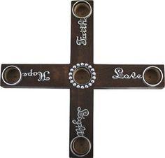Love Light Faith Advent Cross Wreath