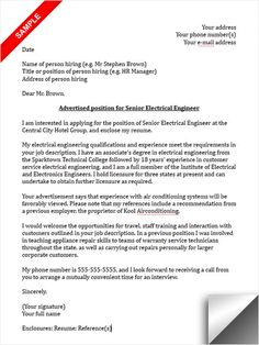 117 Best Cover Letter Sample images | Cover letter example, Cover ...