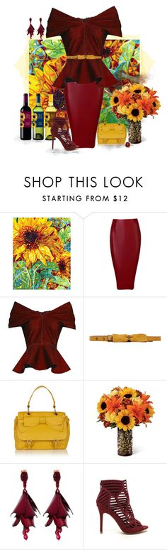 """Sunflowers in Fall"" by love-n-laughter ❤ liked on Polyvore featuring Emilio De La Morena, Lanvin, RED Valentino, Oscar de la Renta and David Yurman"