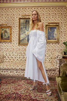 I'm loving this tribute to Grey Gardens by Attico designersGiorgia Tordini and Gilda Ambrosio. Each of the polychromatic robe dresses, ankle cut skirts and sequined mini dresses are punctuated with unique touches such as ombré gradations, intricate embroidery and feminine ruffles. But nothing is