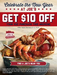 258 best restaurant marketing images on pinterest restaurant pinned january 3rd 10 off 50 at joes crab shack restaurant coupon via fandeluxe Choice Image