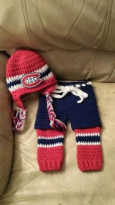 Montreal fans- perfect for your little one! Hat, skates, leg warmers and shorts available from The Vintage Ewe.