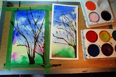 that artist woman: How to Paint Spring Trees