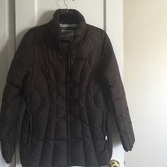 Down car coat Marc New York brown down car coat, flattering stitching Marc by Marc Jacobs Jackets & Coats Puffers