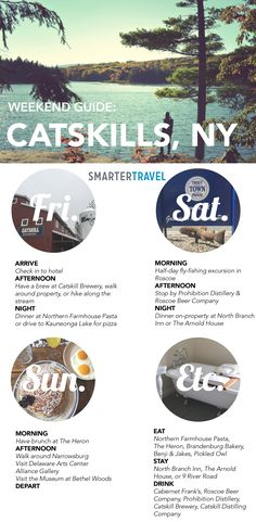 Weekend Guide to Sullivan County in the Catskill Mountains.