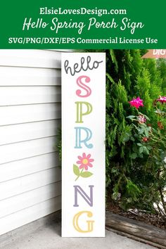 Welcome Spring, Spring Sign, Spring Theme, Vinyl Signs, Wooden Signs, Welcome Wood Sign, Front Porch Signs, Sign Stencils, Craft Quotes