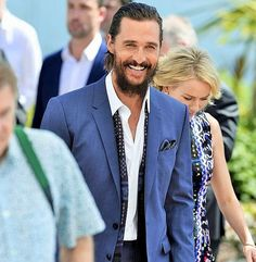 """Matthew McConaughey at the Cannes Film Festival on Last photo from here. Matthew Mcconaughey, Cannes Film Festival, American Actors, Eye Candy, Suit Jacket, David, Fashion, Moda, La Mode"