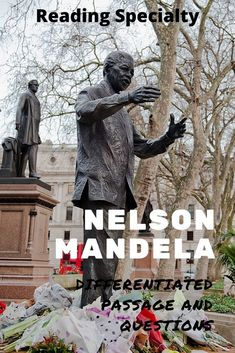 Nelson Mandela was a black nationalist who became the first black president of South Africa. His efforts are largely responsible for the end of the oppressive apartheid system in South Africa. Read about the life and accomplishments of Mandela. Use the questions in standardized test format to check comprehension and help students prepare for high-stakes testing Middle School History, High School, Passage Writing, Teacher Introduction, High Stakes Testing, Standardized Test, Days In February, First Black President, Reading Comprehension Passages