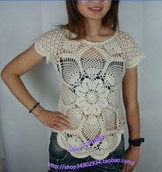 Crochet golden robe