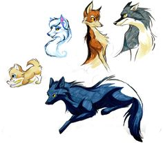 Wolf Character Designs by Bedupolker