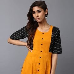 Buy Anuswara Mustard Ikat Sleeve Kurti online. ✯ 100% authentic products, ✯ Hand curated, ✯ Timely delivery, ✯ Craftsvilla assured.