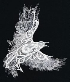 Ghost Baroque - Raven | Urban Threads: Unique and Awesome Embroidery Designs
