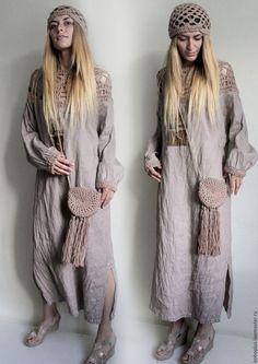 Платья ручной работы. Платье из льна