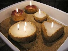 Step by step instructions for making sand candles - great kids holiday candle making project. Sand Candles, Diy Candles, Sand Crafts, Beach Crafts, Diy Crafts, How To Make Sand, Candle Making Business, Fun Projects For Kids, Diy Projects