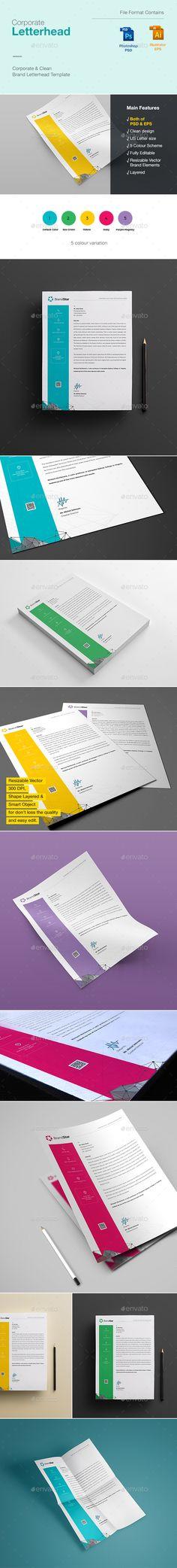 99 best letterhead images on pinterest design patterns design letterhead design template psd vector eps thecheapjerseys Images