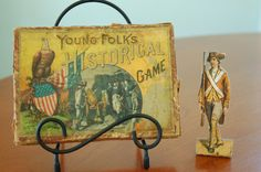 SALE Antique Game Young Folks Historical by CobblestonesVintage, $46.00